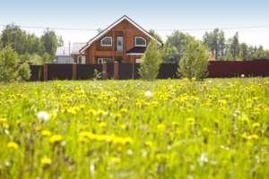 дом и трава