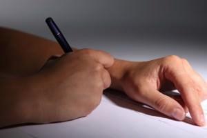 Листок и ручка