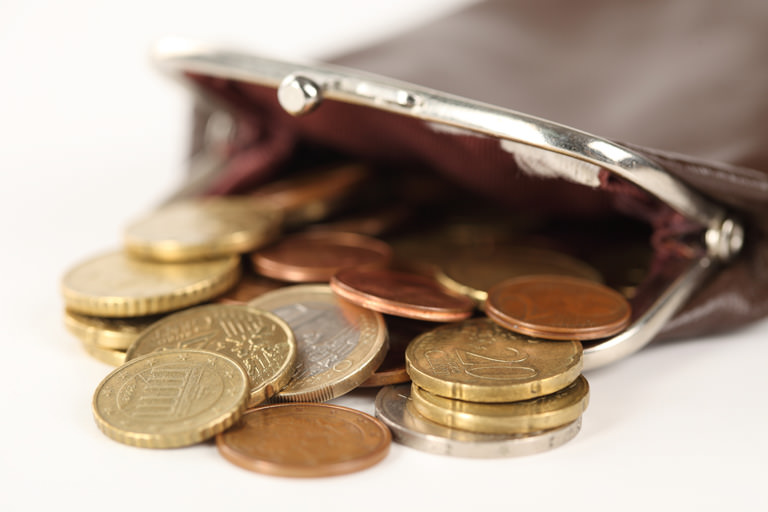 Деньги в кошельке